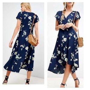 Free people floral navy dress